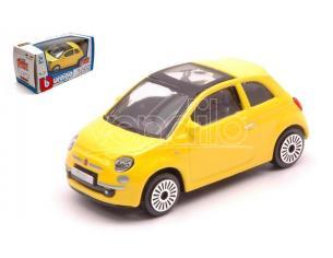 BBURAGO BU30184Y FIAT 500 2008 YELLOW 1:43 Modellino