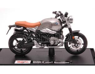 Maisto MI18853 BMW R NINE T SCRAMBLER SILVER 1:18 Modellino
