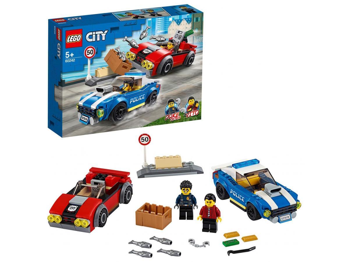 LEGO CITY POLIZIA 60242 - ARRESTO SU STRADA DELLA POLIZIA