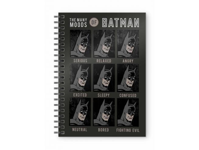 SD TOYS DC BATMAN FACES SPIRAL NOTEBOOK TACCUINO