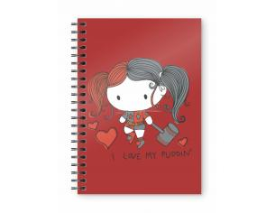 SD TOYS DC HARLEY QUINN CHIBI PUDDIN NOTEBOOK TACCUINO