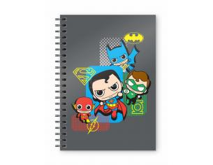 SD TOYS DC JUSTICE LEAGUE CHIBI SPIRAL NOTEBOOK TACCUINO