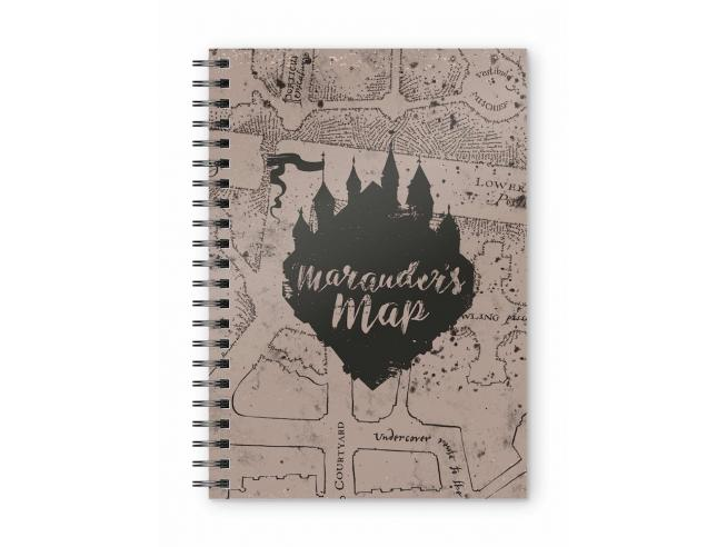 SD TOYS HARRY POTTER MARAUDER'S MAP SPIRAL NOTEBOOK TACCUINO