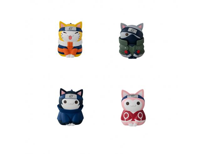 MEGAHOUSE NARUTO-NYARUTO! CATS KONOHA VILLAGE SET MINI FIGURA