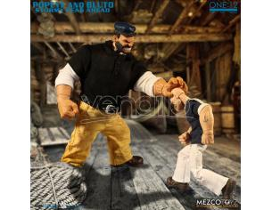 MEZCO TOYS ONE 12 COLL POPEYE & BLUTO SSA DLX SET ACTION FIGURE
