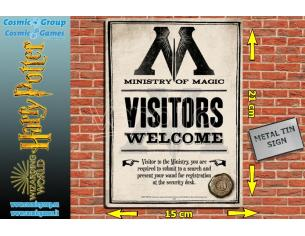 HMB HP MINISTRY OF MAGIC TIN SIGN PLACCA DA MURO