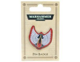 Hmb W40k Blood Angels Metallo Enameled Badge Spilla
