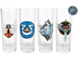 HMB W40K CHAPTERS SHOT GLASS SET (4) BICCHIERI