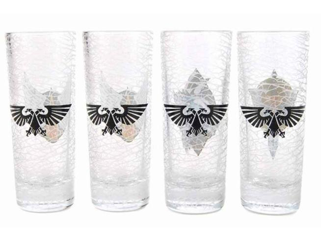 HMB W40K CHAPTERS SHOT GLASS SET (4) BICCHIERI