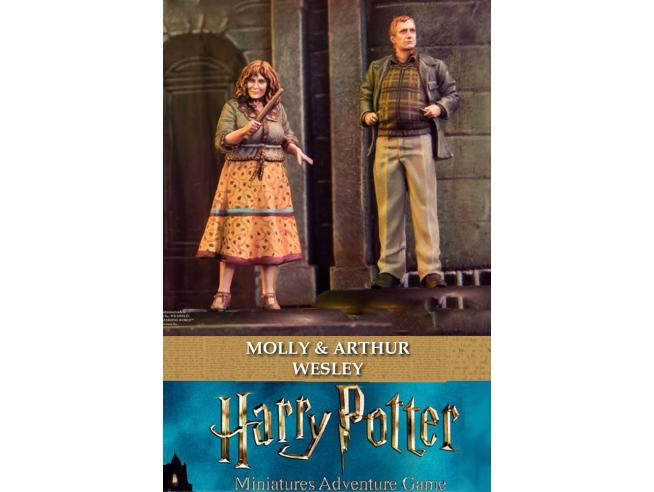 KNIGHT MODELS HARRY POTTER MOLLY & ARTHUR WEASLEY WARGAME