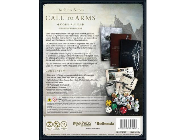MODIPHIUS ELDER SCROLLS CALL TO ARMS CORE RULE BOX WARGAME