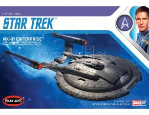 POLAR LIGHT STAR TREK NX-01 ENTERPRISE SNAP 2T MODEL KIT