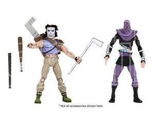 NECA TMNT CARTOON S.3 CASEY JONES&FOOT 2PK ACTION FIGURE
