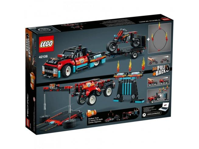 LEGO TECHNIC 42106 - TRUCK E MOTO DELLO STUNT SHOW