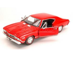Welly WE9397R CHEVROLET CHEVELLE SS 396 1968 RED 1:24 Modellino