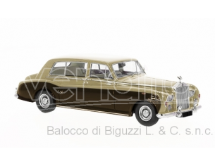 Neo Scale Models NEO45341 ROLLS ROYCE PHANTOM VI STRETCH 1968 GOLD/BROWN 1:43 Modellino
