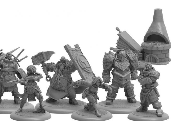 STEAMFORGED GAMES GUILD BALL BLACKSMITHS FORGED FROM STEEL GIOCO DA TAVOLO