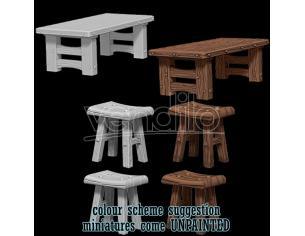 WIZKIDS WIZKIDS UM WOODEN TABLE & STOOLS GIOCO DI RUOLO