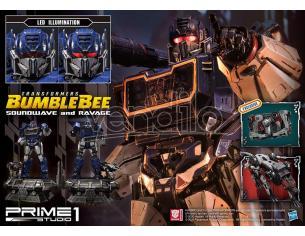PRIME 1 STUDIO BUMBLEBEE FILM SOUNDWAVE&RAVAGE EX SET(3 STATUA