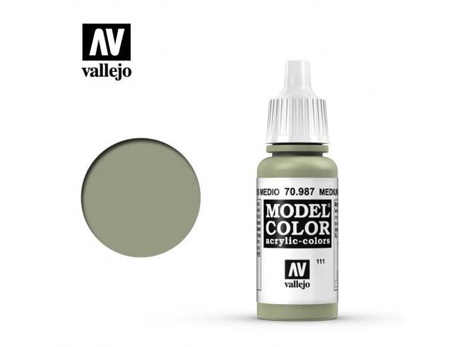 VALLEJO MC 111 MEDIUM GREY 70987 COLORI