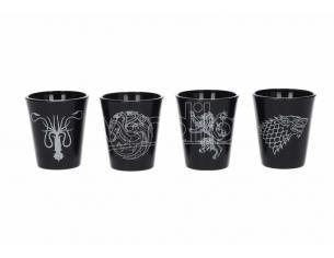 SD TOYS GOT BLACK SHOT GLASSES SET (4) BICCHIERI