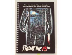 SD TOYS FRIDAY THE 13TH POSTER SPIRAL NOTEBOOK TACCUINO