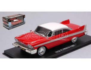 Greenlight GREEN86575 PLYMOUTH FURY 1958 CHRISTINE 1983 RED W/WHITE ROOF 1:43 Modellino