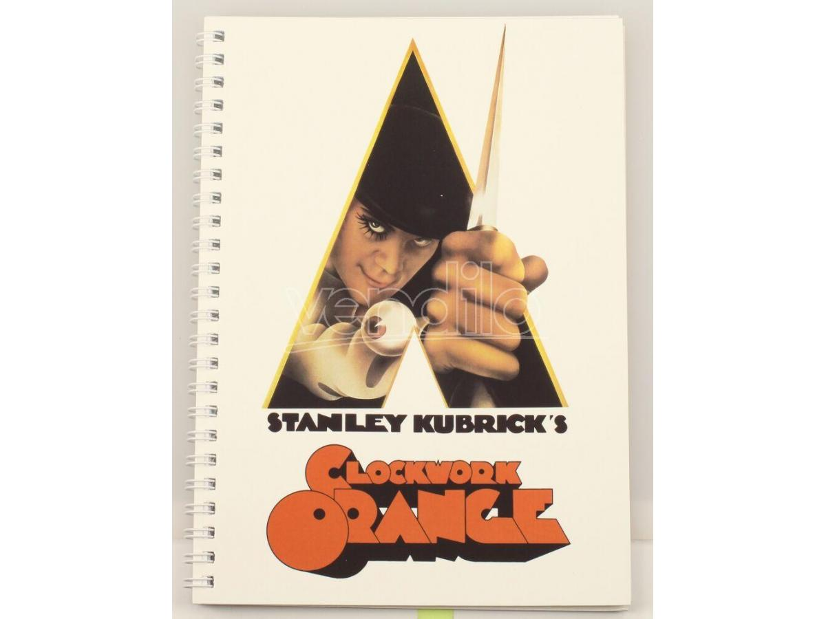 SD TOYS A CLOCKWORK ORANGE POSTER SPIRAL NOTEBOO TACCUINO