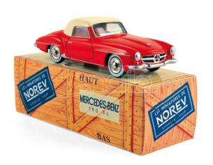 Norev NVCL3512 MERCEDES 190 SL 1956 ROUGE & IVOIRE 1:43 Modellino