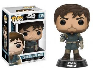 Funko Star Wars Rogue One POP Vinile Figura Capitan Cassian Andor 9 cm Scatola Rovinata
