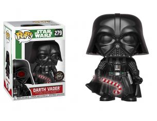 Funko Star Wars POP Movies Vinile Darth Vader Natale 9 cm CHASE Scatola Rovinata
