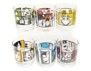 BANPRESTO AOT GLASS ASST (18) BICCHIERI