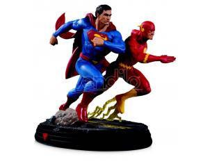 DC DIRECT DC GALLERY SUPERMAN VS FLASH RAC II E ST STATUA