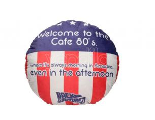 BACK TO THE FUTURE 80'S CAFE ROUND CUSHION CUSCINO SD TOYS