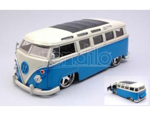 JADA TOYS JADA99023 VW BUS 1962 BLUE/WHITE 1:24 Modellino