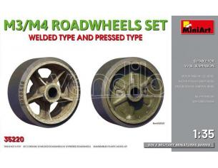 Miniart MIN35220 M3/M4 ROADWHEELS SET KIT 1:35 Modellino