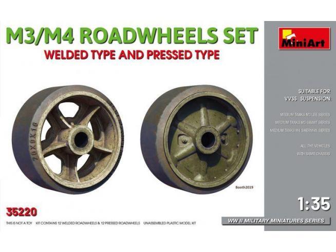 Miniart MIN35220 M3/M4 ROADWHEELS SET KIT 1:35 Modellino