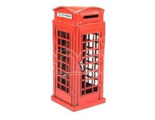 Timplate Regalo's Tpgjl109n Red London Telephone Booth 1920 H.cm 19 Modellino