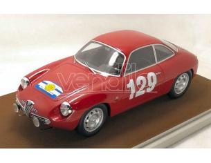 Tecnomodel TMD1842G ALFA ROMEO GIULIETTA SZ N.129 WINNER T.DE FRANCE 1960 LANGENESTE-GREDES Modellino