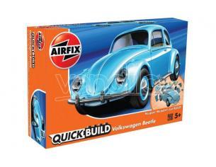 AIRFIX J6015 QUICK BUILD VW BEETLE LIGHT BLUE Modellino
