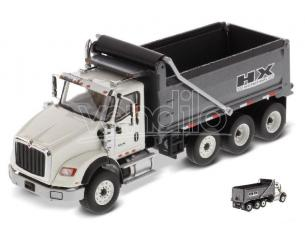 Diecast Master Dm71013 Hx620 Dump Truck White/gun Metallo 1:50 Modellino