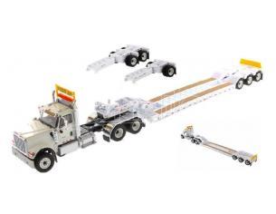 DIECAST MASTER DM71015 HX520 TANDEM TRACTOR WHITE XL TRAILER 1:50 Modellino