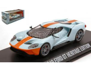 GREENLIGHT GREEN86158 FORD GT HERITAGE EDITION 2019 GULF COLOURS 1:43 Modellino