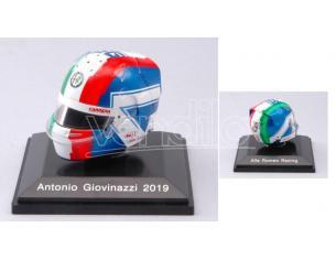 SPARK MODEL HSP046 CASCO ANTONIO GIOVINAZZI 2019 ALFA ROMEO F1 1:8 Modellino