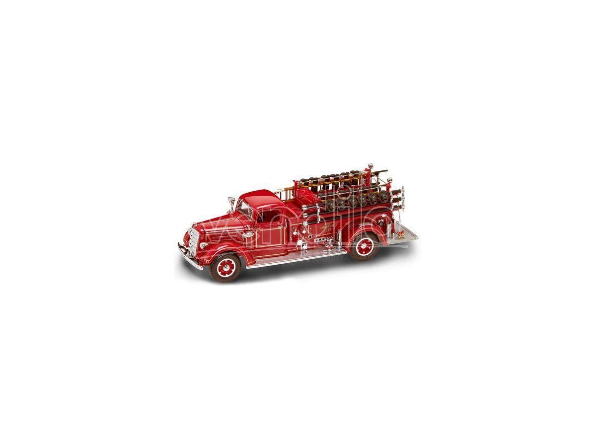 LUCKY DIE CAST LDC20158 MACK TYPE 75 1938 FIRE TRUCK 1:24 Modellino