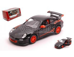 Kinsmart Kt5352wbk Porsche 911 Gt3 Rs 2010 Black/arancione Cm 12 Box Modellino