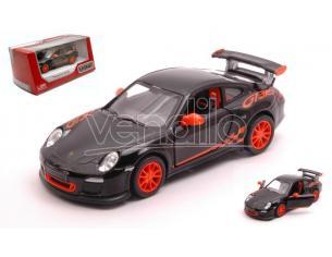 KINSMART KT5352WBK PORSCHE 911 GT3 RS 2010 BLACK/ORANGE cm 12 BOX Modellino