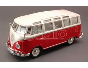 MAISTO MI31956R VW T2 VAN SAMBA 1962 RED W/WHITE ROOF 1:25 Modellino