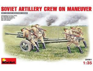 MINIART MIN35081 SOVIET ARTILLERY CREW ON MANEUVER KIT 1:35 Modellino