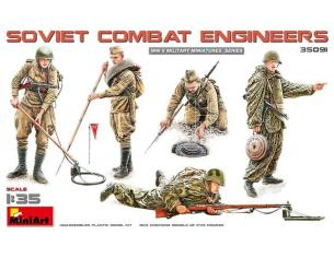 MINIART MIN35091 SOVIET COMBAT ENGINEERS KIT 1:35 Modellino